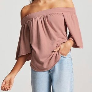 French terry off the shoulder top